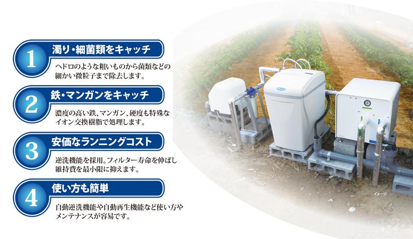 農業用水処理システム